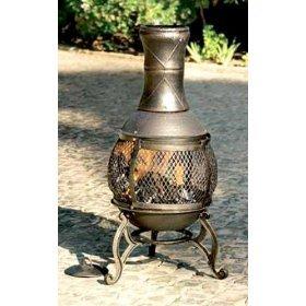 Oxford Leisure Fuego Black Mesh Cast Iron Chiminea Chimenea 90 Cm High