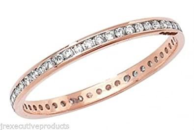 9ct Rose Gold 0.25ctw Full Eternity Ring (available in sizes G - Z)