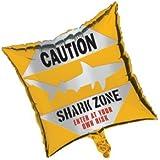 Creative Converting Shark Splash Square Metallic Balloon, 18-Inch