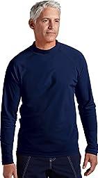 Coolibar UPF 50+ Men's Long-Sleeve Swim Shirt (Medium - Navy)