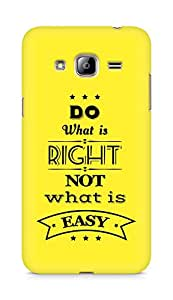 Amez Do what is Right Not what is Easy Back Cover For Samsung Galaxy J3