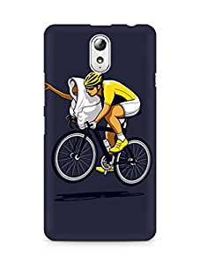 Amez designer printed 3d premium high quality back case cover for Lenovo Vibe P1M (Go home blue illust art minimal cute)