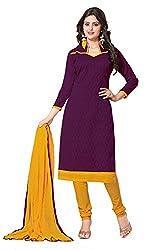 Khoobee Presents Lakda Jacqard Dress Material (Wine,Yellow)