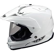 Fly Racing Trekker Adult Sports Bike Motorcycle Helmet - White / Medium