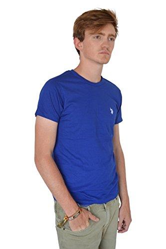 us-polo-assn-da-uomo-in-cotone-girocollo-t-shirt-blue-medium