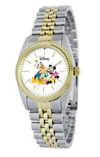Disney Women's D116S776 Mickey Mouse and Friends Two-Tone Bracelet Watch