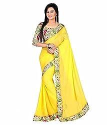 Srp Fashion Selection Women's Chiffon Saree (SRP-Yellow-101_Yellow)