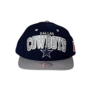 d10f6ce1dc4 Mitchell   Ness Dallas Cowboys Flat Brim Snap Back Hat Adjustable ...