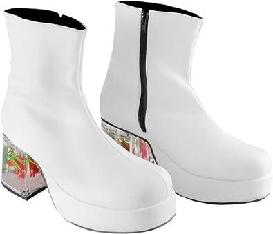 Men 39 s white fish tank costume shoes size x for Fish tank shoes