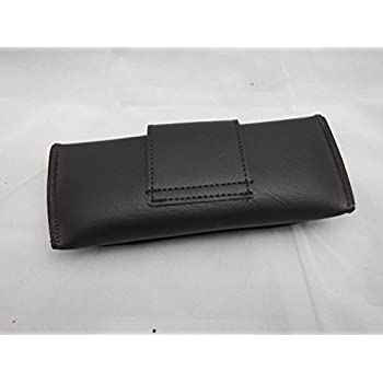 OverStock Blowout Sale Brown Double Snap Belt loop eyeglass case