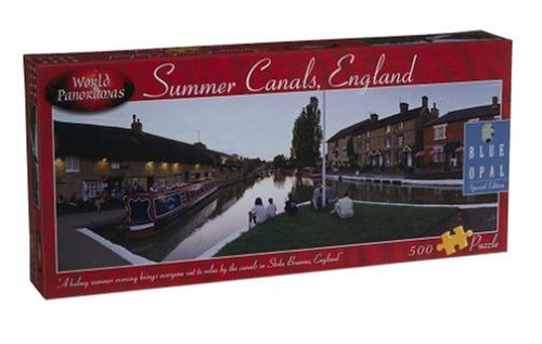 World Panoramas - Summer Canals, England Puzzle: 500 Pcs by Blue Opal - 1