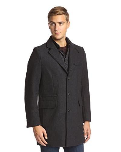 Sean John Men's Twill Walker Coat with Quilted Bib