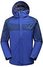 MAKINO Men39s Waterproof Windproof Detachable Long-sleeved Jacket for Camping - Red - S