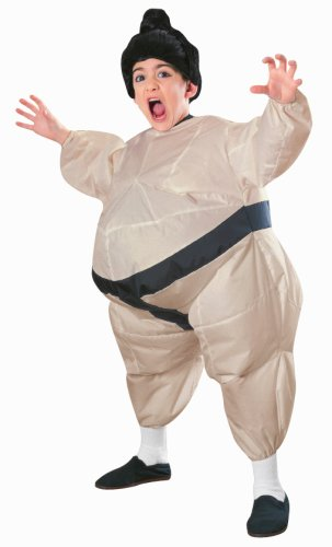 Child'S Inflatable Sumo Costume With Battery Operated Fan front-495002