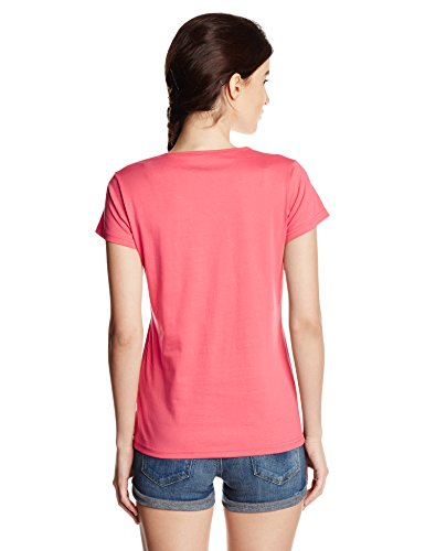 Cloth-Theory-Womens-Graphic-Print-T-Shirt-TSWB14Coral-PinkX-Large