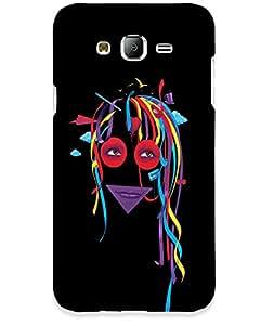 Hugo Samsung Galaxy J5 Back Cover Hard Case Printed Designer Multicolour