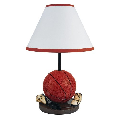 Orc Furniture White Cone Shaped Shade Basketball Accent Lamp