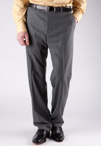 Brook Taverner Ayrshire Trouser in Latte Puppytooth Check 32L