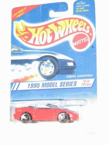 1995 #8 Camaro Convertible Red Malaysia Yellow Hot Wheels Logo 3 Spoke Wheels #344 Mint Hot Wheels