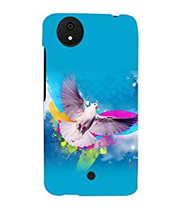 printtech Bird Independence Wings Back Case Cover for Micromax Android A1::Micromax Canvas A1 AQ4502