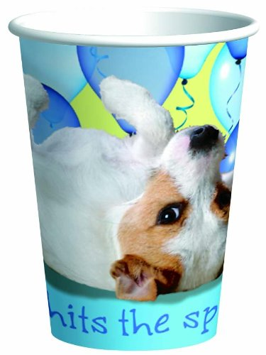 Puppy Party 9oz Paper Cups (8ct)