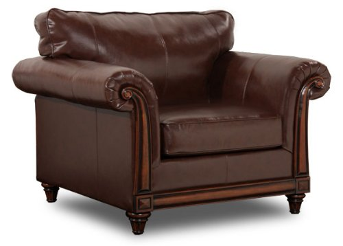Simmons Upholstery 8001-01 San Diego Coffee Bonded Leather Chair front-404952