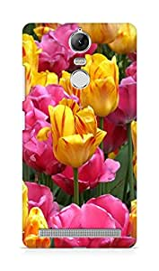 Amez designer printed 3d premium high quality back case cover for Lenovo K5 Note (Colorful Tulip Flowers)