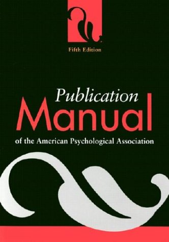 Publication Manual of the American Psychological Association, American Psychological Association Staff