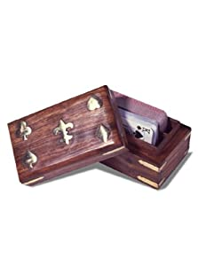 Sunnywood Games 2709 Wooden Card Box