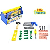 Tools & Bolts Childrens Educational Toy Set From Little Treasures 20 Piece Deluxe Tool Series Pretend And Play...
