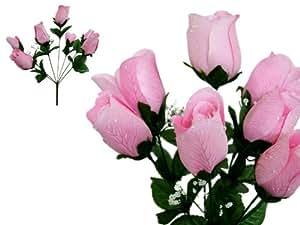 252 Velvet Rose Buds Wedding Flowers Supply Pink
