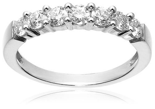 14k White Gold 7-Stone Diamond Ring (3/4 cttw, H-I Color, I1-I2 Clarity), Size 7