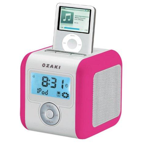 Ozaki iMini iPod FM Radio Alarm Clock - Pink
