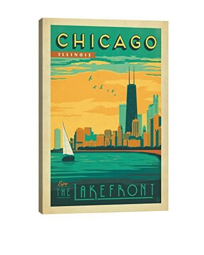 Anderson Design Group Chicago, Illinois Lakefront View Canvas Print, Multi, 26″ x 18″