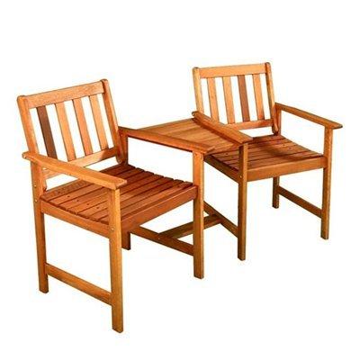 BillyOh Jack 'N' Jill Tete a Tete Wooden Companion Seat Garden Bench