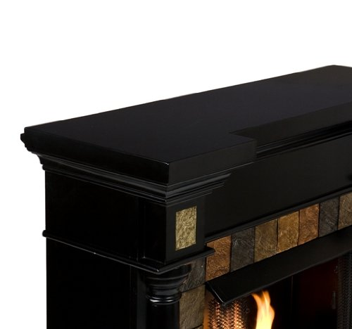 "Weatherford Black Convertible Gel Fireplace (Black) (40""H x 44.5""W x 28""D)"