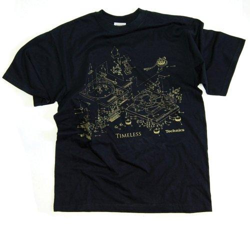 DMC Technics Timeless DJ Mens T-Shirt Black T007Xxl XX-Large