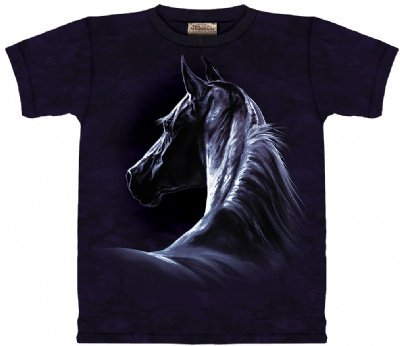 Moonlit T-Shirt 100% Cotton Short Sleeve Horse Shirt For Kids M front-885091