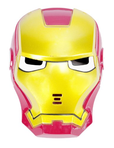 Cool Cosplay Glowing Iron Man Mask W/ Blue Led Eyes For Halloween