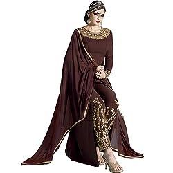 Vasu Saree Mystic Brown Georgette Pant Salwar Suit
