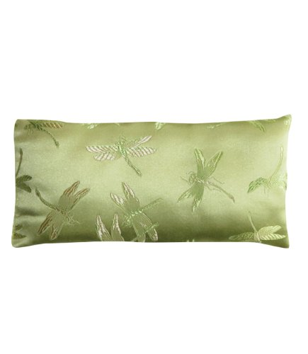 Lavender Filled Silk Eye Pillow - Green Dragonflies