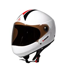 Triple 8 Downhill Racer Helmet (White Gloss, Small/Medium)
