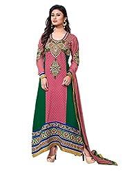 Adah semi Stitched Georgette Salwar Kameez -568-8004