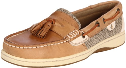 Sperry Women's Tasslefish Slip-On Linen Size 9