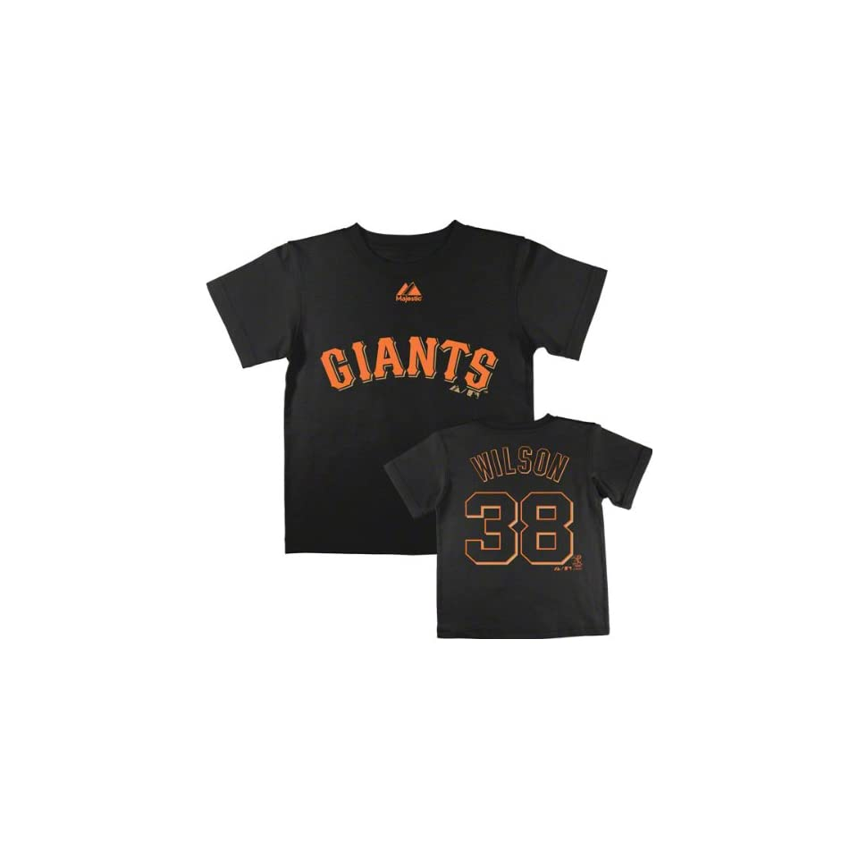 Brian Wilson San Francisco Giants Kids (4 7) Black Name and Number T Shirt