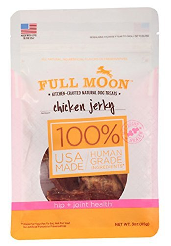 Full Moon Chicken Jerky 3oz Dog Treats - Hip + Joint Health All Natural Human Grade (Full Moon Chicken Jerky For Dogs compare prices)