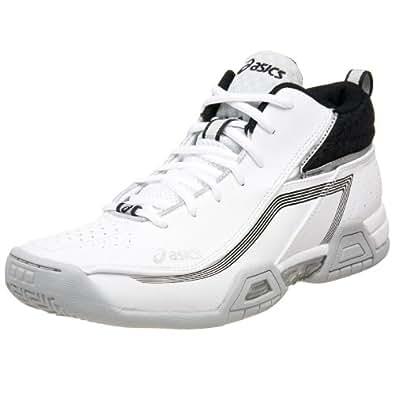 ASICS Men's GEL-Crossover Basketball Shoe,White/Black/Silver,10 D US