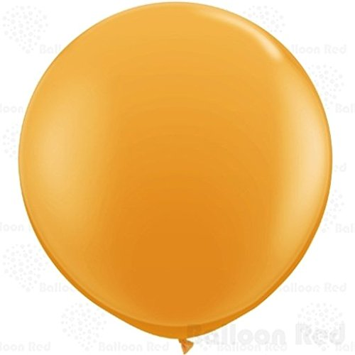 36 Inch Giant Jumbo Latex Balloons (Premium Helium Quality), Pack of 24, Orange (Gas Mask Picture compare prices)