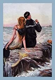 30 x 20 Stretched Canvas Poster Sailor and Mermaid