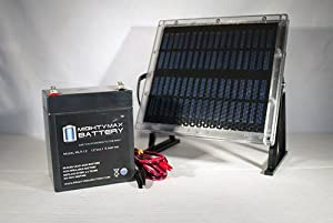 12V 5AH Replaces Power Sonic PS1250 + 12V Solar Panel Charger - Mighty Max Battery brand product by Mighty Max Battery